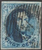 Belgique 1858 COB 11A Oblitération P 4 Anvers