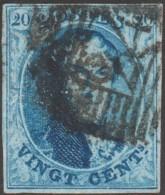 Belgique 1858 COB 11A Oblitération P 24 Bruxelles. Papier Très Mince