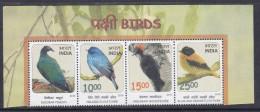 INDIA, 2016, Threatened Birds, Nicobar Pigeon,Nilgiri Flycatcher,Andaman Woodpecker. Setenant, MNH, (**)