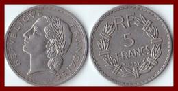 RARE 5 Francs LAVRILLIER Nickel 1938 F 336 7 Franc - France