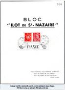 """Poches De L'Atlantique - Bloc """"ILOT DE St NAZAIRE"""""""