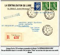 """Poches De L'Atlantique - Enveloppe """"Recommandée"""" De La Librairie """"LA CENTRALISATION DU LIVRE"""""""