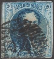 Belgique 1858 COB 11A Oblitération P 24 Bruxelles