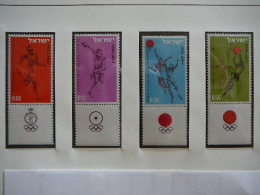 Israel 1964 MNH # Mi. 304/7 Olympic Games Tokyo - Unused Stamps (without Tabs)
