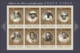 SIERRA LEONE 2015 ** Ebola Virus M/S III - OFFICIAL ISSUE - A1641