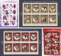 SIERRA LEONE 2015 ** Ebola Virus 4M/S - OFFICIAL ISSUE - A1641