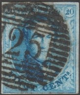 Belgique 1858 COB 11A Oblitération P 25 Charleroi