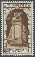 1934 REGNO POSTA AEREA FIUME 50 CENT MH * - CZ35 - Posta Aerea