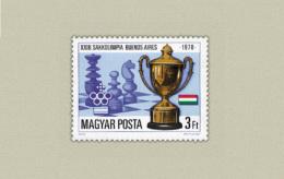 HUNGARY 1978 SPORT Games CHESS - Fine Set MNH