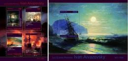 Togo 2014, Art, Ivan Aivazaovsky, Ships, 4val In BF +BF