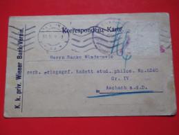 Correspondence Card / Postcard -K.K.Priv.Wiener Bank-Verein 1918 -Seal Censorship