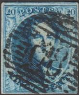 Belgique 1858 COB 11A Oblitération P 68 La Louvière (??)