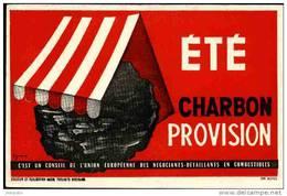 BUVARD été Provision Charbon Conseil Union Européenne Des Négociants Et Détaillants En Combustibles - Buvards, Protège-cahiers Illustrés