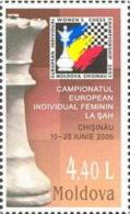 MOLDOVA 2005 SPORT Women´s European Cup Of CHESS - Fine Set MNH