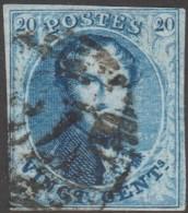 Belgique 1858 COB 11A Oblitération P 73 Liège (??)