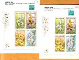 Laos 2000 Y Flora Orchids Mi No Bl 178 B+C MNH