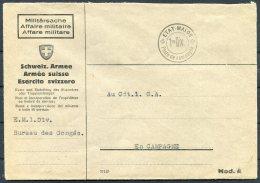 Switzerland Fieldpost Feldpost Cover / Etat-Major 1 Division, Bureau Des Congres - Military Post