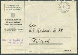 Switzerland Fieldpost Feldpost 3 Cover - Documents