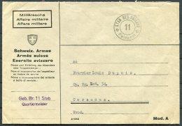 Switzerland Fieldpost Feldpost 11 Cover - Documents