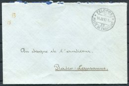 1942 Switzerland Fieldpost Feldpost 33 Hospital Cover - Military Post