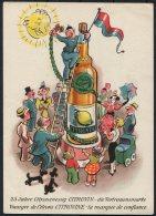 Switzerland Fieldpost Feldpost Emmen Kaserne Militarpost Citrovin Lemon Comic Patriotic Postcard - Military Post
