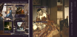 Togo 2014, Art, Vermeer, 4val In BF +BF