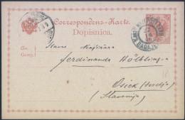 K.u.k. Bosnia Postal Stationery Postcard Travelled 1899 Sarajevo To Osijek Bb161026