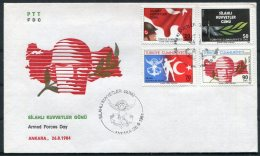1985 Turkey Armed Forces Day FDC / First Day Cover - 1921-... Republic