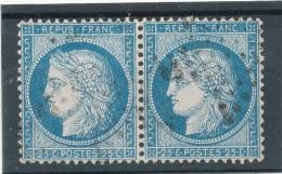 N°60A TYPE I PAIRE  VARIÉTÉ 7/8 B.2.
