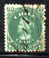 T1233 - CILE ,   Yvert N. 15  Usato