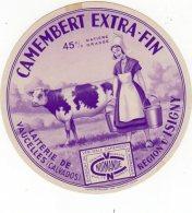 Oct16  14112  étiquette  Camembert   Laiterie   De Vaucelles - Cheese