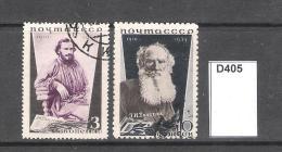Russia 1935 25th Death Anniv Of Tolstoi  3k And 10k