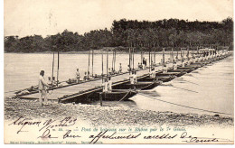 - FRANCE (84) - CPA Ayant Voyagé AVIGNON 1903 - Pont De Bateaux Sur Le Rhône Par Le 7e Génie (belle Animation) - - Avignon