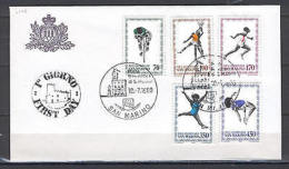 San Marino A27 MNH 1980 Sport Olympics 5v