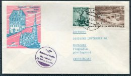 1962 Austria Germany Wien - Nurnberg Lufthansa First Flight Cover - First Flight Covers