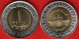"""Egypt 1 Pound 2015 """"Suez Canal"""" BiMetallic UNC - Egypte"""
