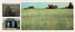 Plowing - Tractor - Harvest - Harvester - Vologda Region - 1987 - Russia USSR - Unused - Rusia