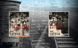 Latvia Lettland Lettonie 2016 (09) Soviet Terror In 1941 - 75 Years - Deportation And Latvian Army Soldiers Execution - Lettonie
