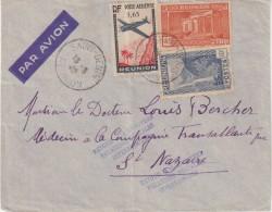 """REUNION . PA . DE """" ST DENIS """" POUR """" ST NAZAIRE """" . RAL . RELATIONS POSTALES INTERROMPUES . 1940 . - Réunion (1852-1975)"""