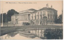 37. CPA. TOURS. Place Du Palais De Justice