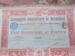 ACTION DE 100 FRS  COMPAGNIE IMMOBILIERE DE DUSSELDORF - ANNEE 1905 - Shareholdings