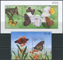 Bhutan 1999. Michel #1930/35+Bl.#395 MNH/Luxe. Butterflies. (TS20)