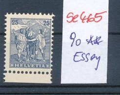 Schweiz Nr. 90  (*)  Essay-Probedruck   ( Se465  ) Siehe Foto - 1882-1906 Wappen, Stehende Helvetia & UPU