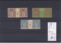 France - Lot 3 Millésimes -  N° 85* / 96*et 101* - Second Choix - Millesimes