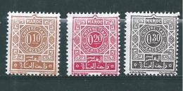 Timbre   Taxe  Du Maroc  De 1965  N°57 A 59   Neufs ** - Marokko (1956-...)