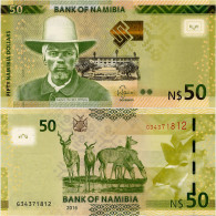 NAMIBIA       50 Dollars       P-13[b]       2016       UNC - Namibia