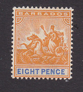 Barbados, Scott #87, Mint Hinged, Badge Of The Colony, Issued 1897 - Barbados (...-1966)