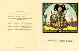 ILLUSTRATEUR HANSI. CARTE DOUBLE CONFRERIE SAINT ETIENNE D ALSACE - Hansi