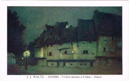 ILLUSTRATEUR HANSI. VIEILLES MAISONS A COLMAR ALSACE - Hansi