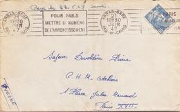 FRANCE ENVELOPPE DU 21 JUIN 1947 DE ARRAS POUR PARIS - France